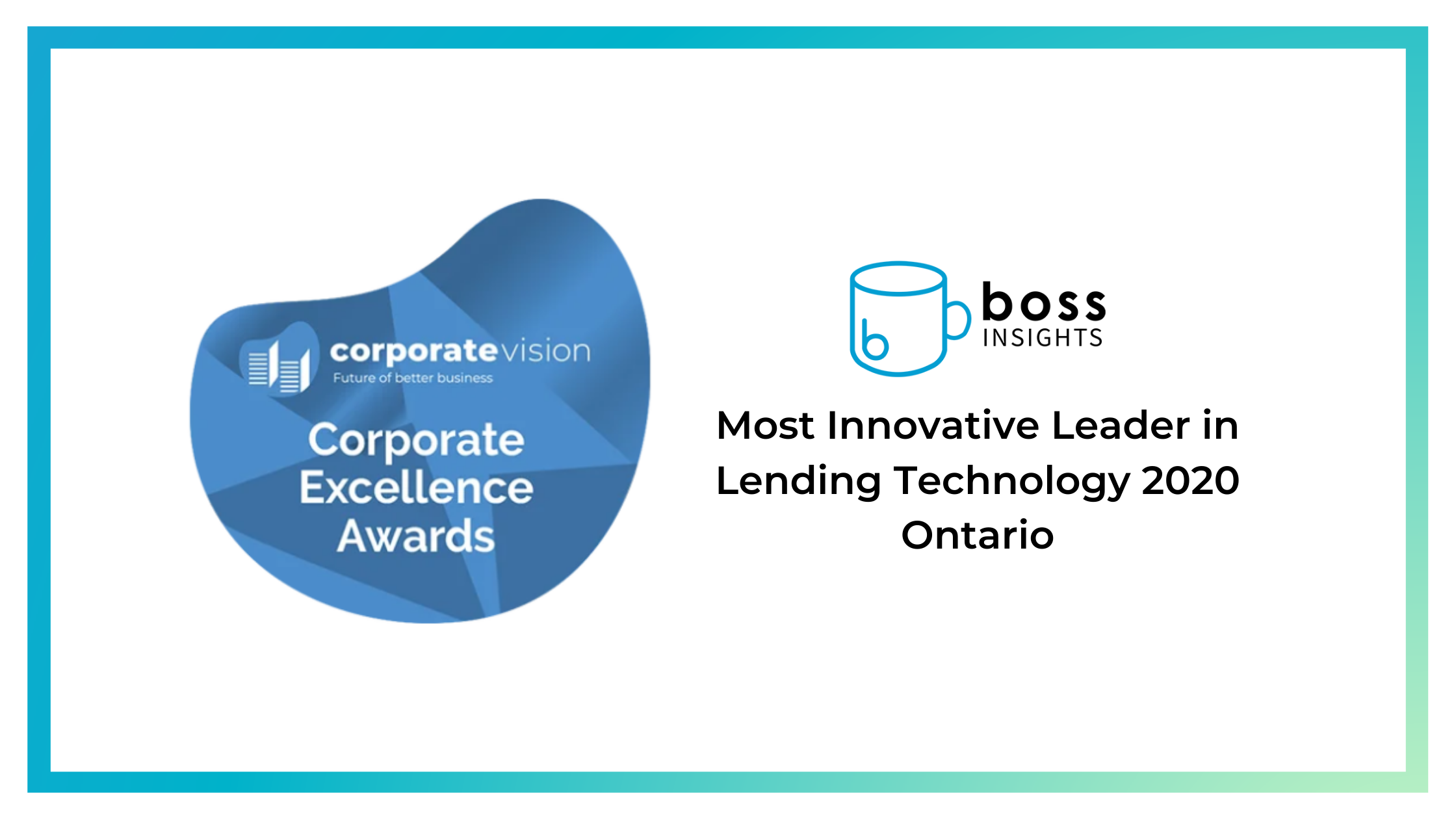 Boss Insights Wins Most Innovative Leader in Lending Tech Award